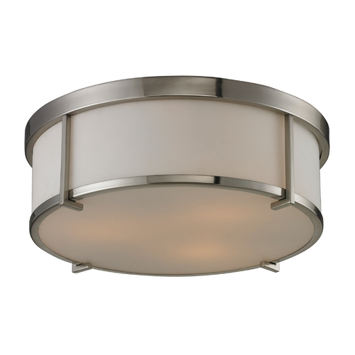 Elk Lighting Modern LED Flushmount Light in Brushed Nickel Finish 11465/3-LED