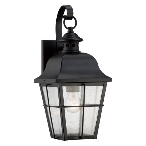 Quoizel Lighting Quoizel Millhouse Mystic Black Outdoor Wall Light MHE8406K