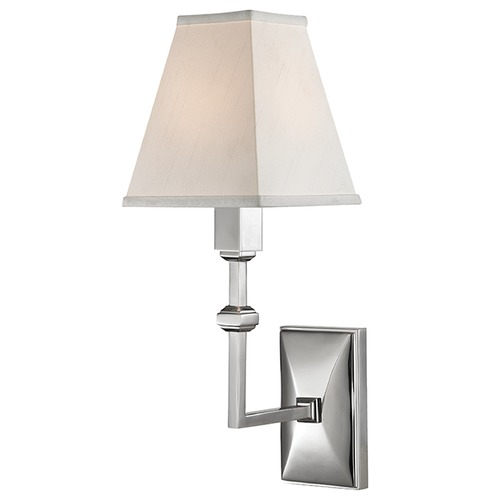 Hudson Valley Lighting Tilden 1 Light Sconce Square Shade - Polished Nickel 5500-PN