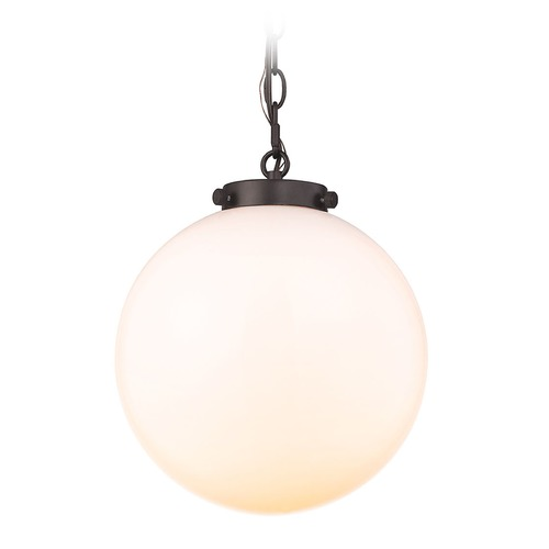 Elk Lighting Elk Lighting Gramercy Oil Rubbed Bronze Pendant Light with Globe Shade 16381/1
