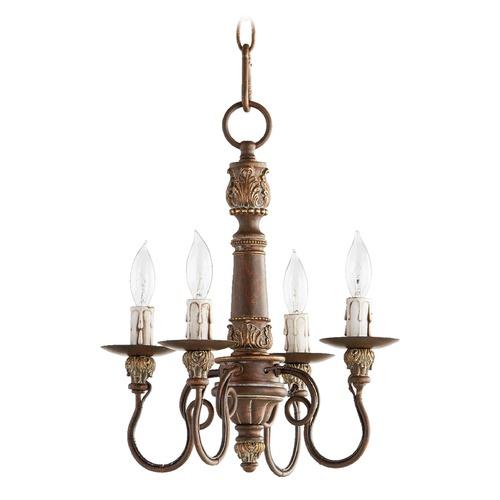 Quorum Lighting Quorum Lighting Salento Vintage Copper Mini-Chandelier 6006-4-39