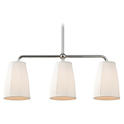 Hudson Valley Lighting Hudson Valley Lighting Malden Polished Nickel Island Light with Bell Shade 6063-PN