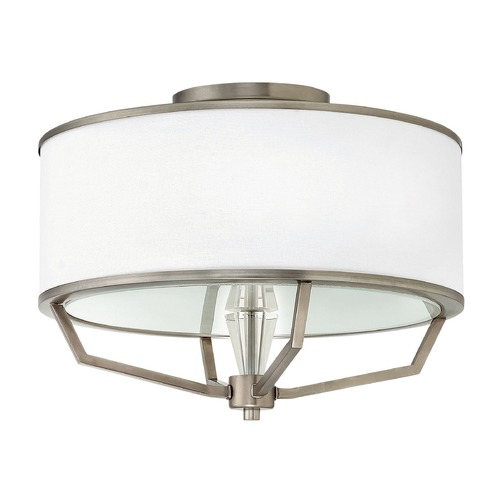 Hinkley Lighting Hinkley Lighting Larchmere English Nickel Semi-Flushmount Light 4483EN