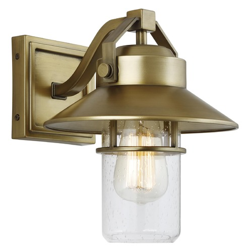 Feiss Lighting Feiss Lighting Boynton Painted Distressed Brass Outdoor Wall Light OL13900PDB