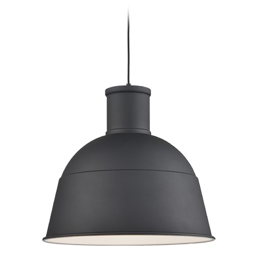 Kuzco Lighting Kuzco Lighting Irving Black Pendant Light with Bowl / Dome Shade 493522-BK