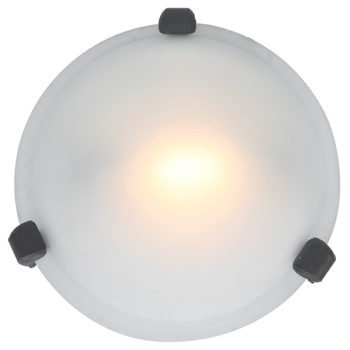 Access Lighting Modern Flushmount Light with White Glass in Rust Finish 50020-RU/FST
