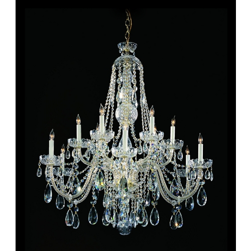 Crystorama Lighting Crystal Chandelier in Polished Chrome Finish 1112-CH-CL-S