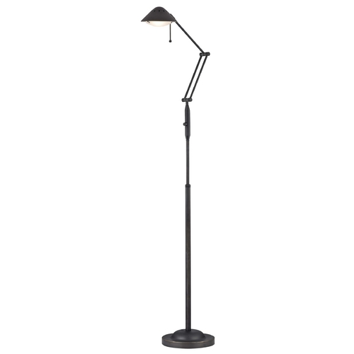 LEDs by ZEPPELIN Adjustable Swing Arm Bolivian Bronze LED Task Floor Lamp JF-991-78