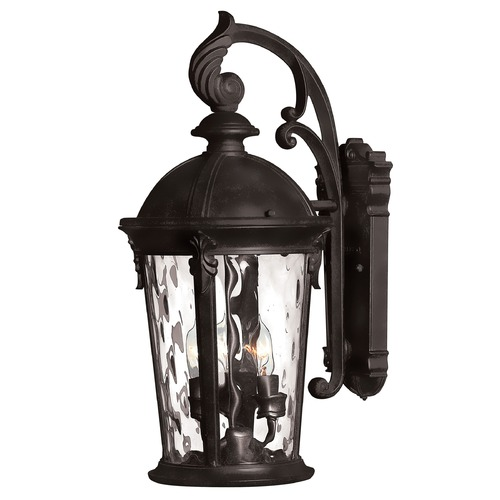 Hinkley Lighting Outdoor Wall Light with Clear Glass in Black Finish 1898BK