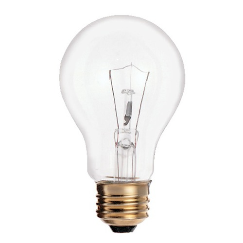 Satco Lighting Incandescent A19 Light Bulb Medium Base 2700K Dimmable S2997