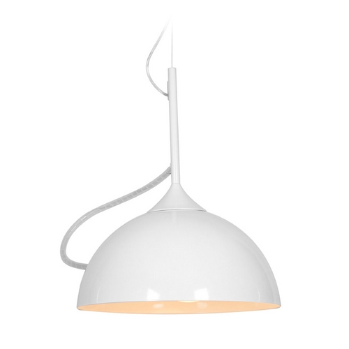 Access Lighting Access Lighting Magneto White Pendant Light with Bowl / Dome Shade 23770-WH