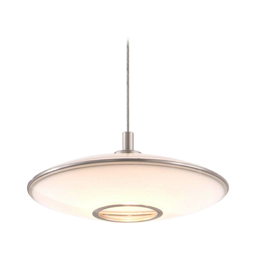 Holtkoetter Lighting Holtkoetter Modern Low Voltage Mini-Pendant Light with White Glass C8110 S006 GB20 SN
