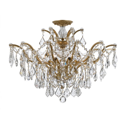 Crystorama Lighting Crystorama Lighting Filmore Antique Gold Semi-Flushmount Light 4459-GA-CL-SAQ_CEILING