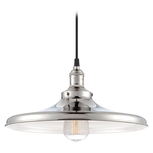 Nuvo Lighting Pendant Light in Polished Nickel Finish 60/5406