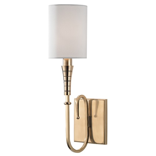 Hudson Valley Lighting Kensington 1 Light Sconce - Aged Brass 4091-AGB