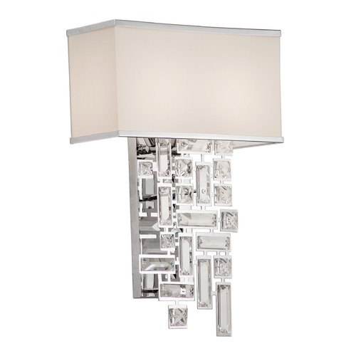 Allegri Lighting Vermeer 2 Light Wall Bracket w/Off White Shade 11190-010-FR001