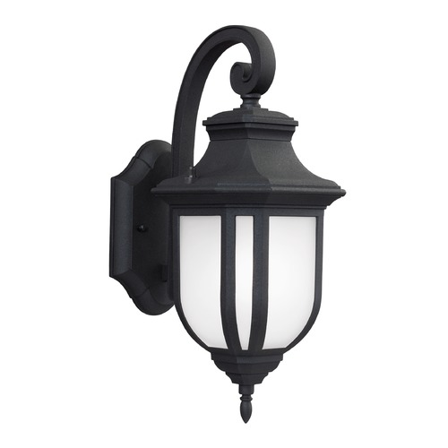 Sea Gull Lighting Sea Gull Lighting Childress Black Outdoor Wall Light 8636301-12