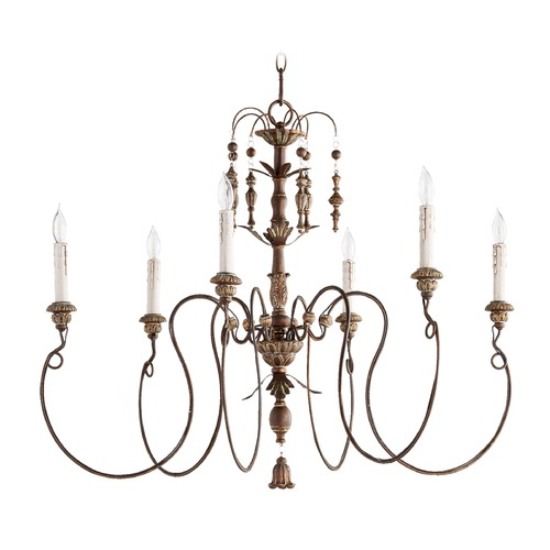 Quorum Lighting Quorum Lighting Salento Vintage Copper Chandelier 6006-6-39
