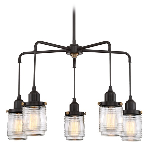 Quoizel Lighting Nautical Chandelier Bronze Belmont by Quoizel Lighting BNT5005WT