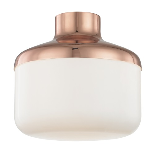 Hudson Valley Lighting Industrial Flushmount Light Copper Mitzi Livvy by Hudson Valley H144501L-POC