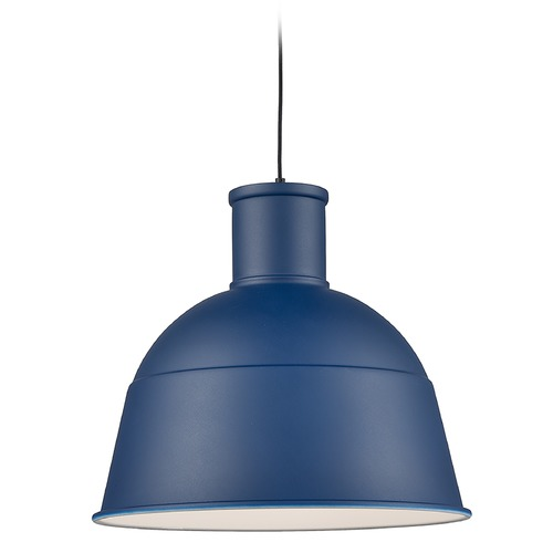 Kuzco Lighting Kuzco Lighting Irving Indigo Blue Pendant Light with Bowl / Dome Shade 493522-IB