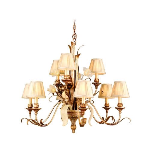Corbett Lighting Corbett Lighting Tivoli Silver Chandelier 49-09