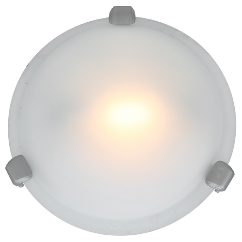 Access Lighting Modern Flushmount Light with White Glass in Satin Nickel Finish 50020-SAT/FST