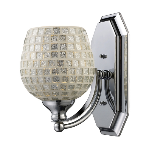 Elk Lighting Sconce with Art Glass in Polished Chrome Finish 570-1C-SLV