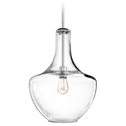 Kichler Lighting Kichler Pendant Light with Clear Glass in Chrome Finish 42046CH