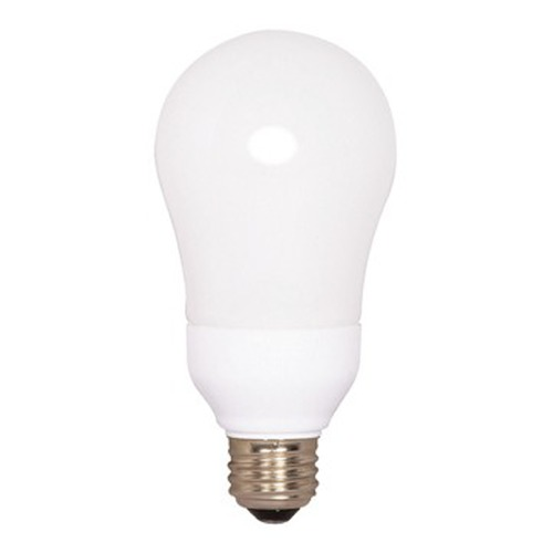Satco Lighting 11-Watt Warm White A-Type Compact Fluorescent Light Bulb S7288