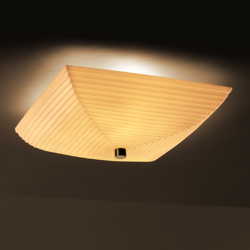 Justice Design Group Justice Design Group Porcelina Collection Semi-Flushmount Light PNA-9672-25-SAWT-MBLK