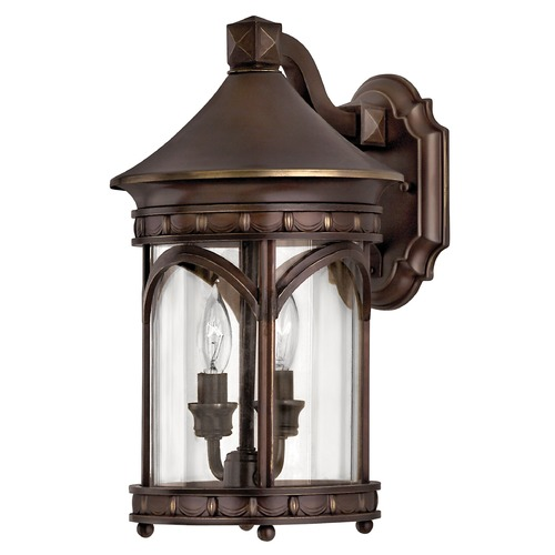 Hinkley Lighting Outdoor Wall Light with Clear Glass in Copper Bronze Finish 2310CB