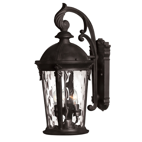 Hinkley Lighting LED Outdoor Wall Light with Clear Glass in Black Finish 1898BK-LED