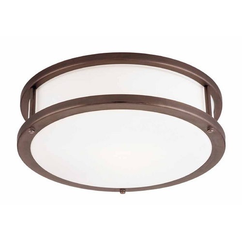 Access Lighting Access Lighting Conga Bronze LED Flushmount Light 50081LEDD-BRZ/OPL