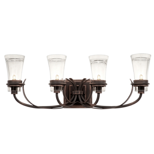 Kalco Lighting Kalco Lighting Dover Antique Copper Bathroom Light 2914AC