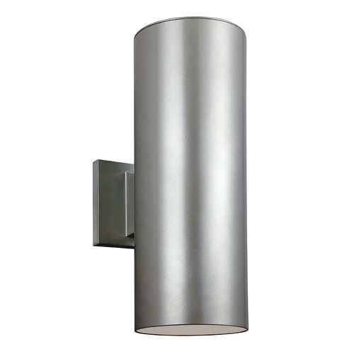 Sea Gull Lighting Sea Gull Lighting Outdoor Bullets Painted Brushed Nickel LED Outdoor Wall Light 8413891S-753