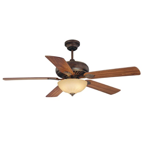 Savoy House Savoy House Parisian Bronze Ceiling Fan with Light 52-854-5RV-234