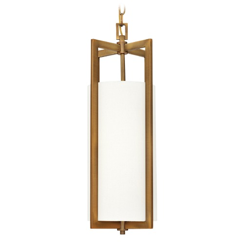 Hinkley Lighting Hinkley Lighting Hampton Brushed Bronze Mini-Pendant Light with Cylindrical Shade 3217BR-GU24
