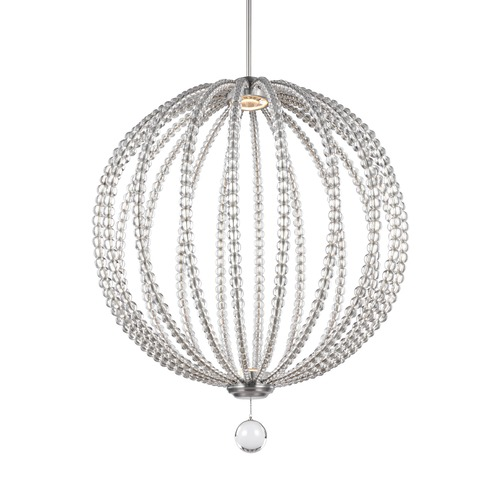 Feiss Lighting Feiss Lighting Oberlin Satin Nickel LED Pendant Light P1428SN-LED