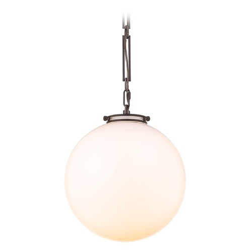 Elk Lighting Elk Lighting Gramercy Oil Rubbed Bronze Pendant Light with Globe Shade 16382/3