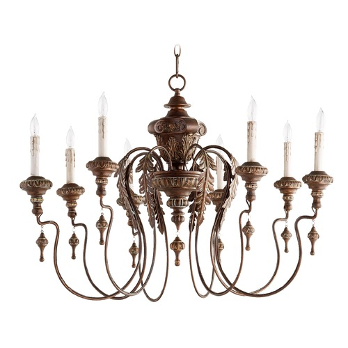 Quorum Lighting Quorum Lighting Salento Vintage Copper Chandelier 6006-8-39