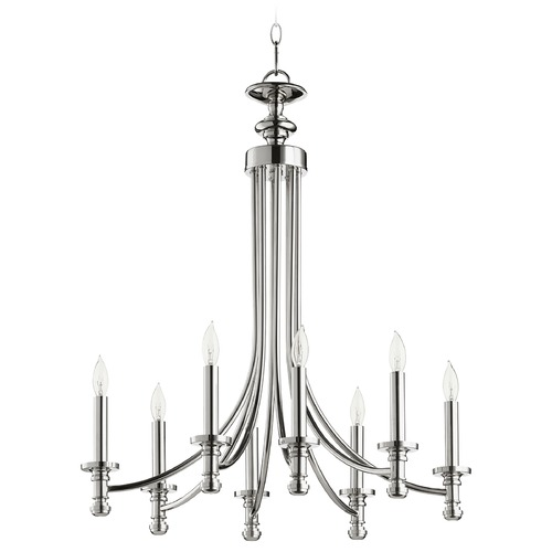 Quorum Lighting Quorum Lighting Rossington Polished Nickel Chandelier 6022-8-62