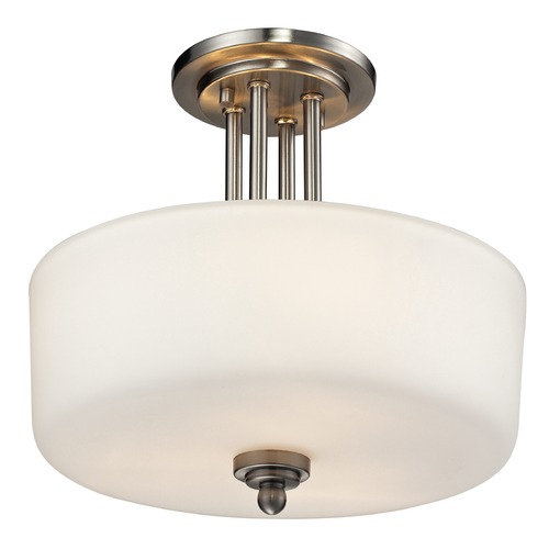 Z-Lite Z-Lite Cardinal Brushed Nickel Semi-Flushmount Light 434-SF-BN