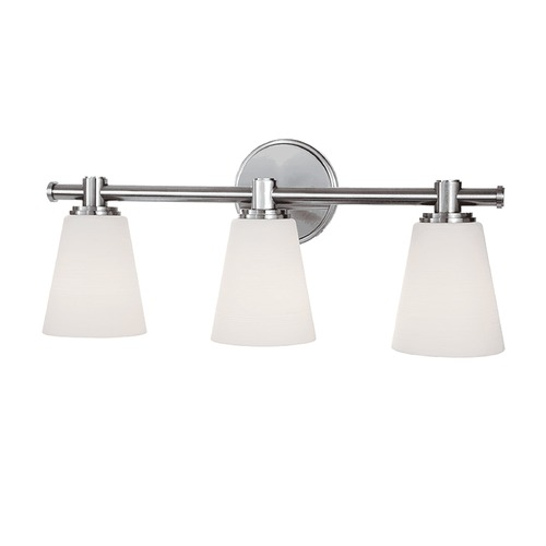 Hudson Valley Lighting Modern Bathroom Light with White Glass in Polished Nickel Finish 1843-PN