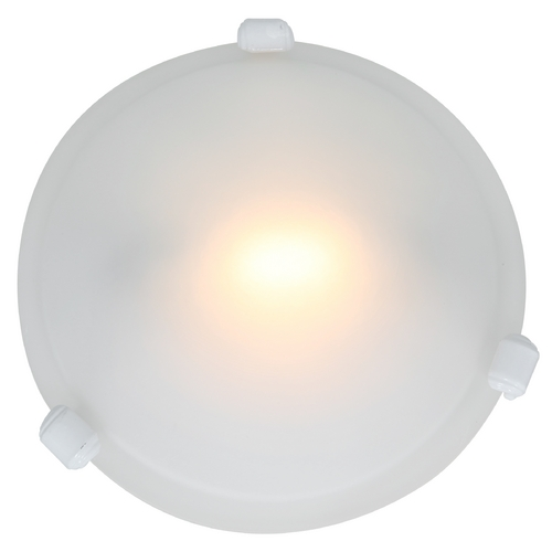 Access Lighting Modern Flushmount Light with White Glass in White Finish 50020-WH/FST