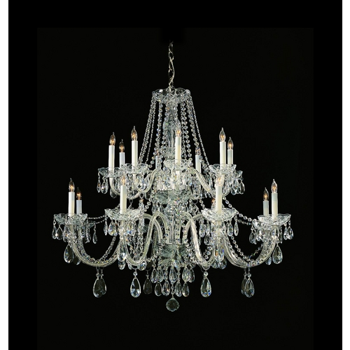 Crystorama Lighting Crystal Chandelier in Polished Chrome Finish 1139-CH-CL-MWP