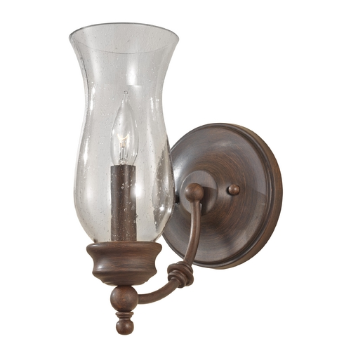 Feiss Lighting Sconce Wall Light with Clear Glass in Heritage Bronze Finish WB1597HTBZ