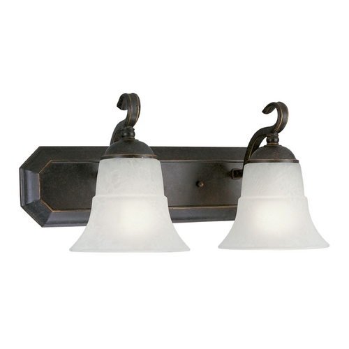 Progress Lighting Progress Bathroom Light with White Glass in Espresso Finish P3022-84