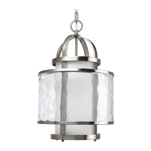 Progress Lighting Progress Modern Drum Pendant Light with Clear Glass P3701-09