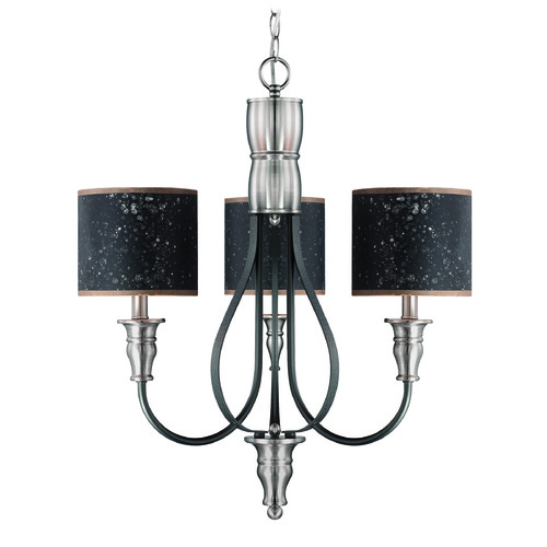 Jeremiah Lighting Jeremiah Preston Hollow Hammered Iron, Brushed Nickel Chandelier 28123-HIBNK